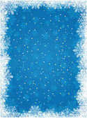 Winter snowflakes background — Stock Vector