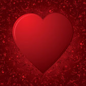 The Heart on red background — Stock Vector