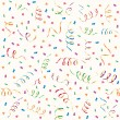 Royalty-Free Stock Vector Image: Party streamers and multicolored confetti
