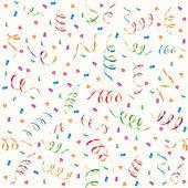 Party streamers and multicolored confetti — Stock Vector
