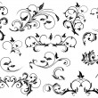 Set of Black floral elements — Stock Vector #10560186