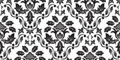Black Seamless floral pattern — Stock Vector
