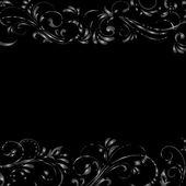 Black grunge vintage frame — Stock Vector