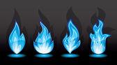 Aantal blauwe vlam — Stockvector