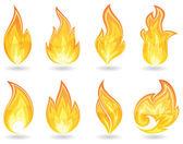 Set of Fire — Stock Vector