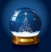 Snow globe with stars — Stock Vector