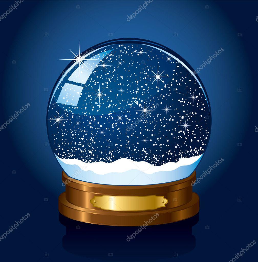 Bola de nieve de navidad vector de stock losw 10598010 - Bola nieve navidad ...
