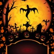 Grunge Halloween background - Stock Vector