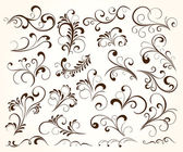 Conjunto de elementos ornamentales para el diseño — Vector de stock