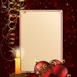 Christmas background with candle — Imagen vectorial