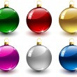 Set of colorful christmas balls - 图库矢量图片