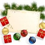 ギフト ボックス付きのクリスマス カード — ストックベクタ