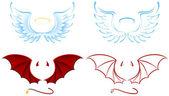 Ange et démon — Vecteur