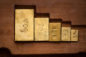 Weights used to measure gold — Stock Photo