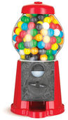 Gumball machine isolated on white with clipping path — Stock Photo