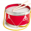 Toy drum isolated on white with a clipping path - Photo