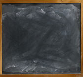 Used textured blank blackboard straight on ready for your copy — Stock Photo