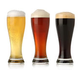 Three cold beer — Stock Photo