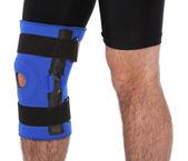 Man wearing a leg brace — Stock Photo