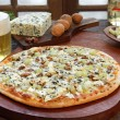 Blue cheese pizza - Stockfoto