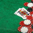Blackjack with gambling chips — Stock Photo #10314683