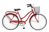 красный велосипед — Стоковое фото