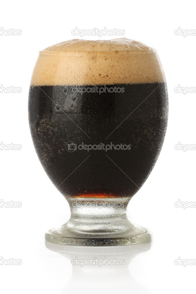 Fresh beer glass over white background  Stock Photo #10356702