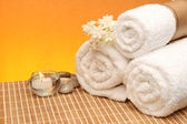 Spa treatment products — Stock Photo