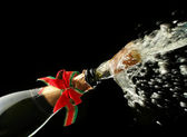 Champagne bottle ready for celebration — Stock Photo