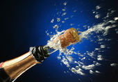 Champagne bottle ready for celebration — Stock Photo