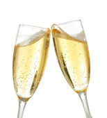 Celebration toast with champagne — Stock Photo