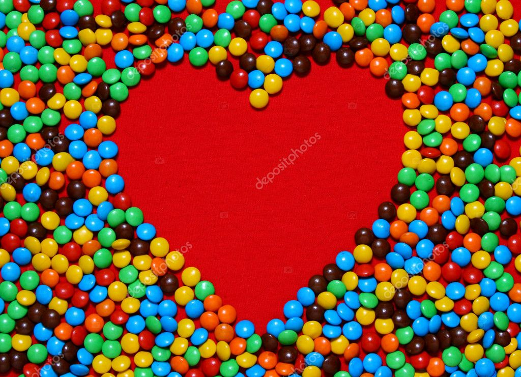 Colorful candy background making heart shape from my Valentine series  Photo #10421739