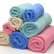 Eight towels pyramid — Stock Photo