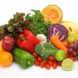 Colorful fresh group of vegetables and fruits - Stock Photo