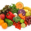 Colorful fresh group of vegetables and fruits — Stock Photo #10468906