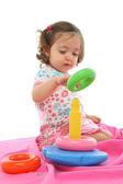 Toddler playing with generic toy — Stock Photo