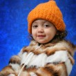 Toddler winter portrait — Stock Photo