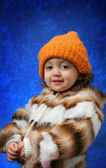 Toddler winter portrait — Stock Photo