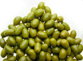 Delicious group of shinny olives — Stock Photo