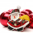 Santa and christmas balls — Stock Photo #10499156