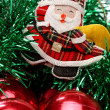 Santa and christmas balls — Stock Photo #10499182
