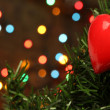 Stock Photo: Christmas love heart