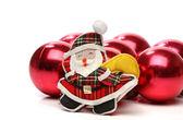 Boules de Noël et Noël — Photo