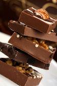 Delicious pile of chocolates — Stock Photo