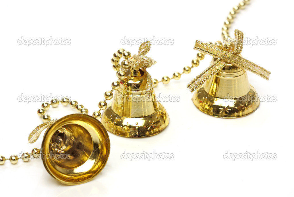 Three christmas bells. From christmas series — Stock Photo #10499281