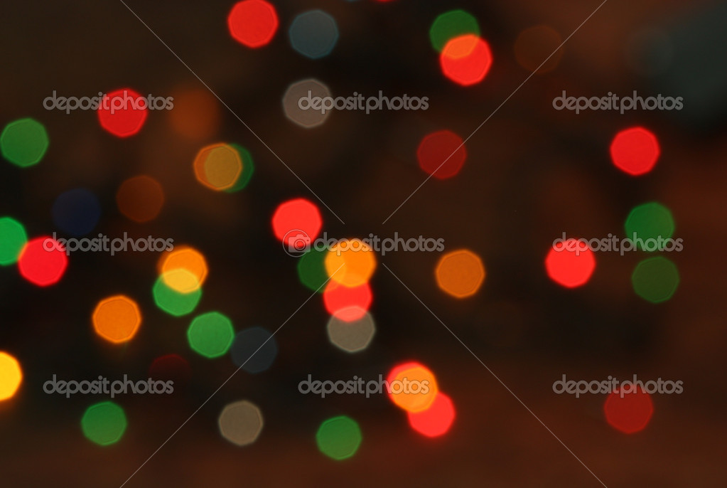 Multi colored Christmas lights background  Photo #10499345