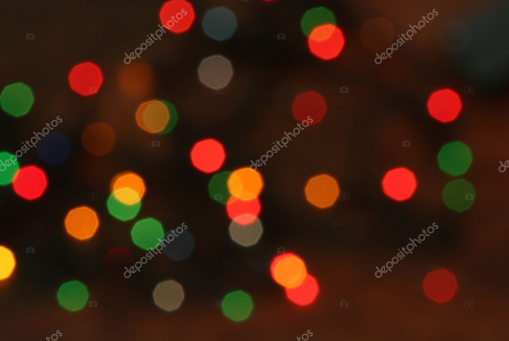 Multi colored Christmas lights background — Foto de Stock   #10499345