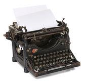 Stara maszyna do pisania z czystym papierze — Zdjęcie stockowe