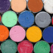Stock Photo: Round oil pastels crayons