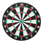 Dartboard bull´s eye. Isolated on white background — Stock Photo